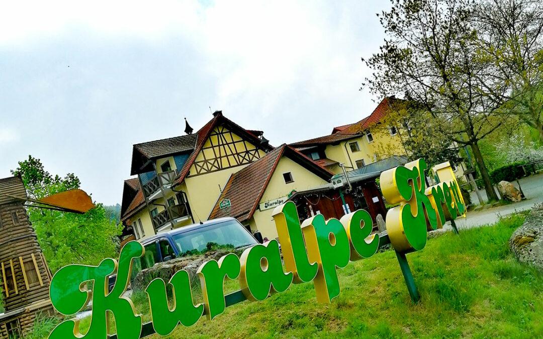 Start und Strecke der 1. B4b MTB-Odenwaldtour
