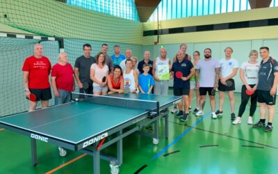 Tischtennisturnier zugunsten von B4b
